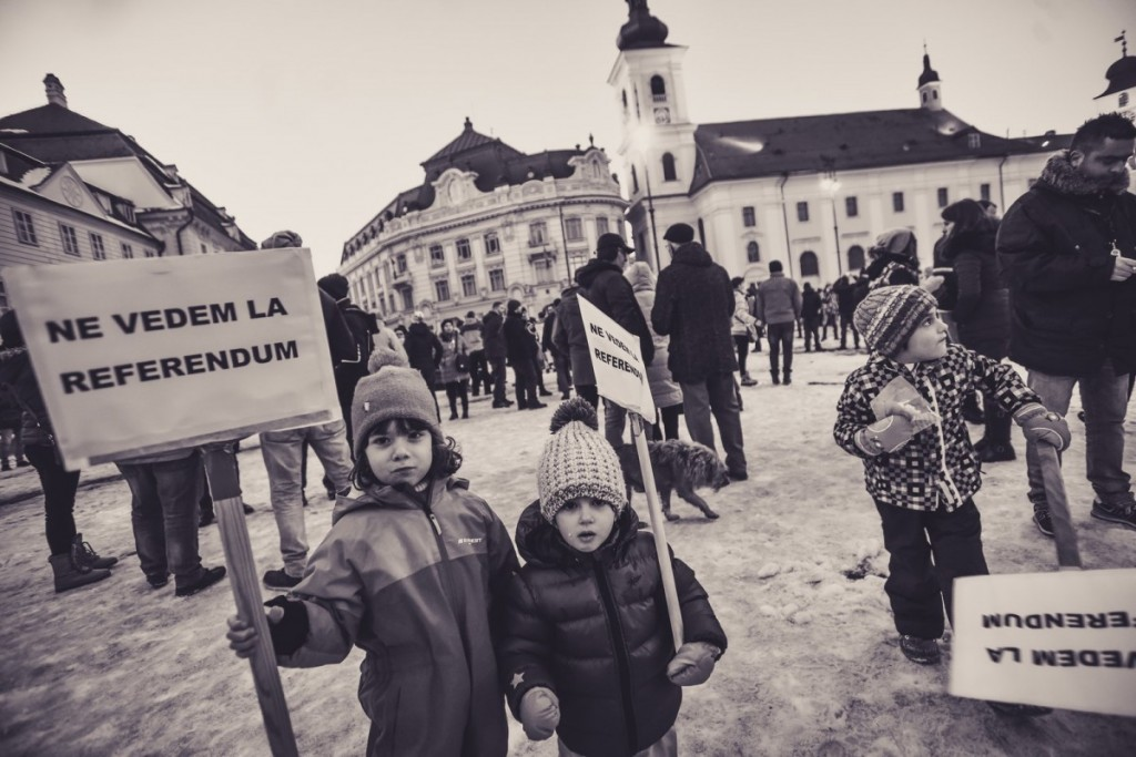 Proteste Anti Grațiere Sibiu Ianuarie 2017