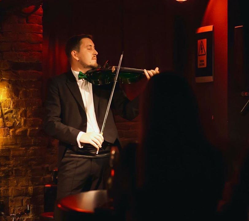 Green Violin Artist devine Geo Fabian