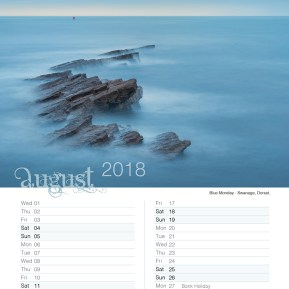 Damian Ward Photography Calendar 2018 August