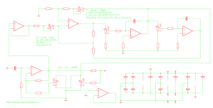 Parametric audio equalizer module: schematic and PCB