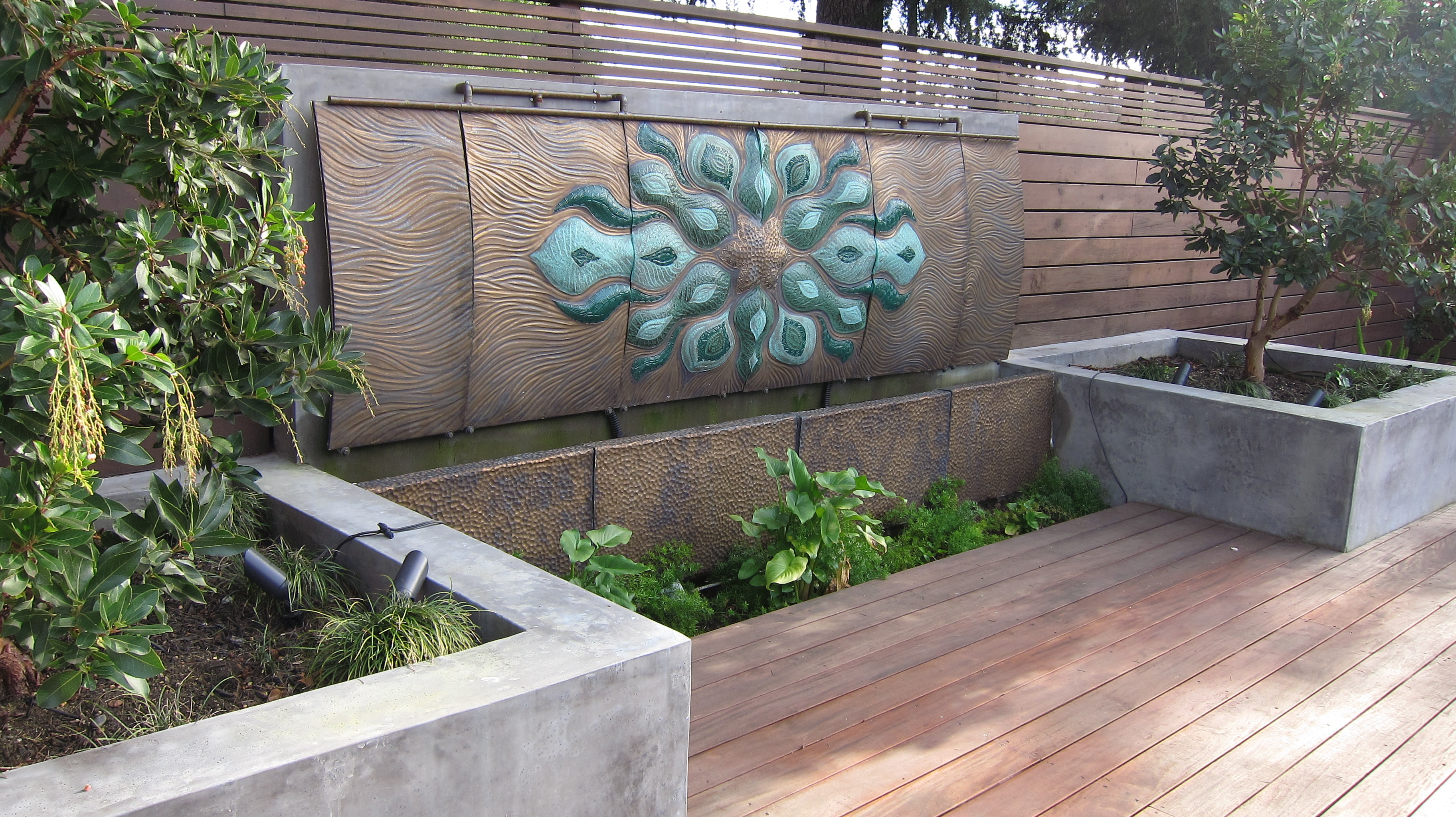Wall Fountains - Damien Jones Art - Unique Water Features on Backyard Feature Walls  id=22393