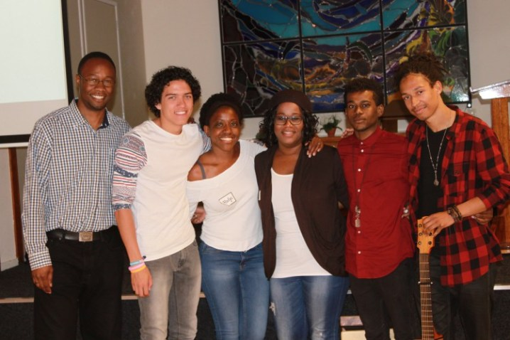 A pic of some of the fans - with the band