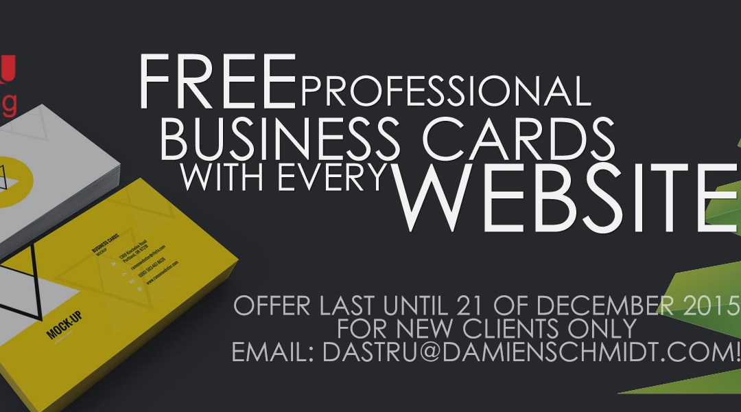 Free Business Cards Promo Deal