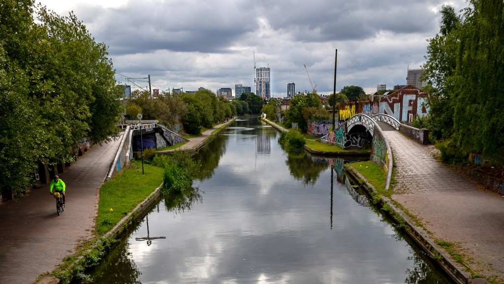 View of the City along our canal