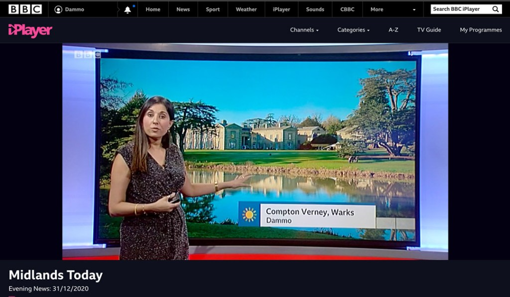 My picture featured on the BBC midlands weather bulletin