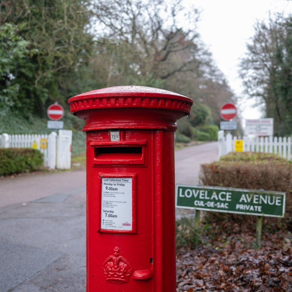 Post box on Widney Manner Road