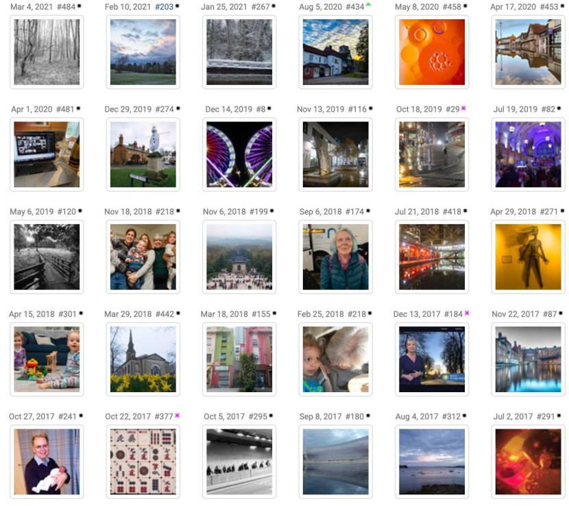 Thumbnails for explore