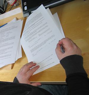 Arbeitsvertrag der Uni Glasgow ist unterschrieben