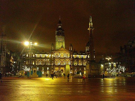 George Square mit City Chambers im Hintergrund