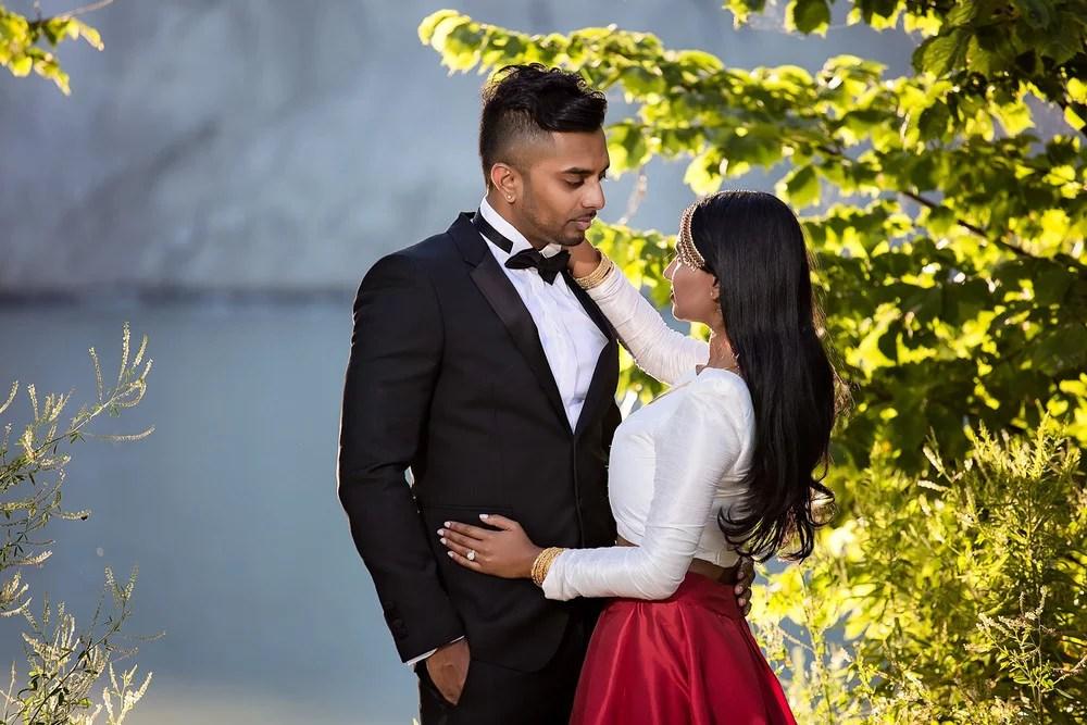 Narmi & Rajeev: Anniversary Shoot at Scarborough Bluffs Tamil Wedding Photographer