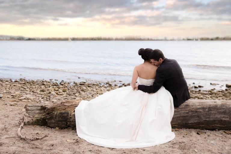 Luke & Tiffany Cherry Beach Cherry Sunset Toronto Bridal Shoot Photographer