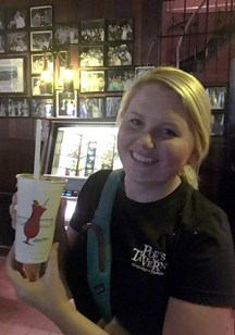 """Sipping a """"World Famous Hurricane"""" at Pat O'Brien's."""