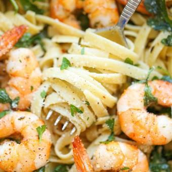 Image result for garlic butter shrimp pasta