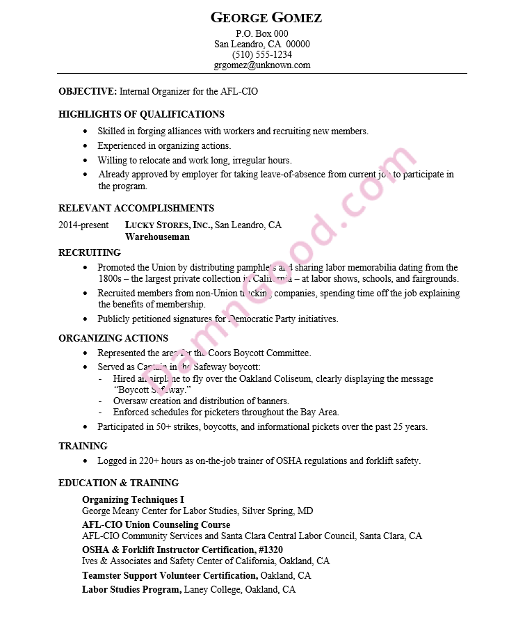 Resume-union-organizer
