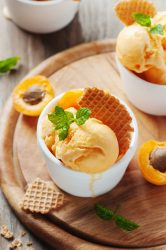 Apricot Ice Cream With Mint