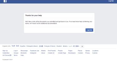 Facebook name change Problem
