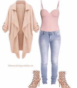 Spring-outfit-ideas-blue-jeans-nude-sandals