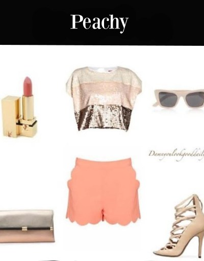 cute-outfit-ideas-coral-shorts