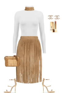 spring-outfit-ideas-fringe-skirt