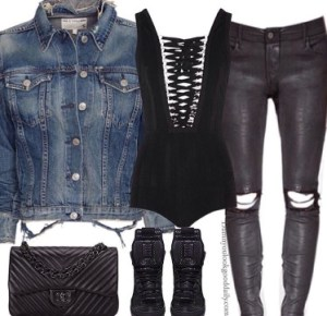 Denim-rag-and-bon-jacket-givenchy-bodysuit-leather-pants-rick-owens-sneakers-chanel-bag