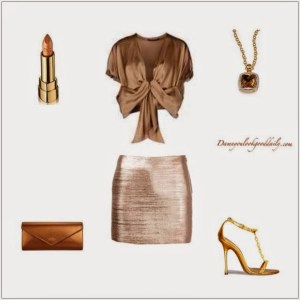 Sexy Gold Outfit Ideas
