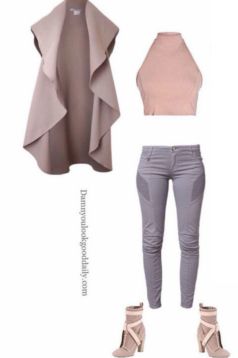 fall-winter-outfit-ideas-gray-motorcyle-jeans-fendi-ankle-boots-crop-top-turtleneck