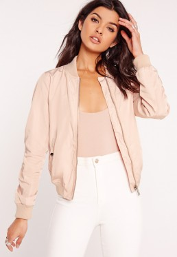 pink-satin-bomber-jacket-with-white-leggings