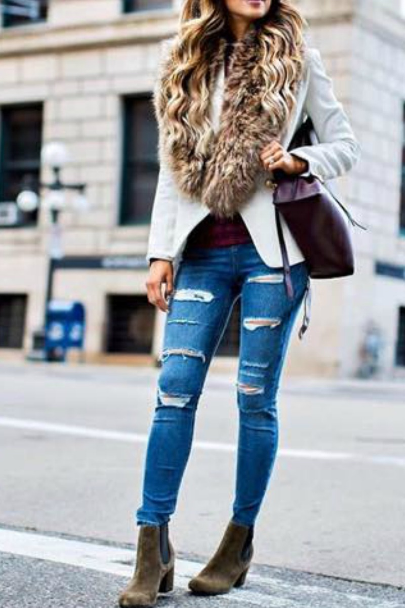 How to ankle wear boots winter foto
