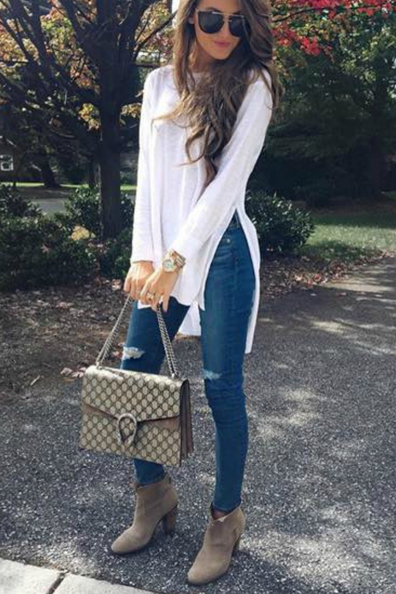 fall-winter-outfit-ideas-casual-blue-skinny-jeans-taupe-ankle-boots-scarf
