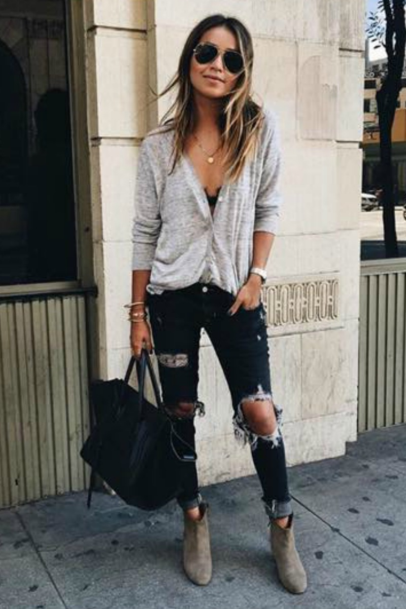 49 Cute Casual Fall Winter Outfits for School and Street ...
