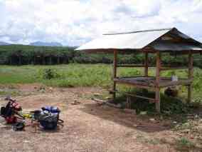 One of many convenient road-side shelters