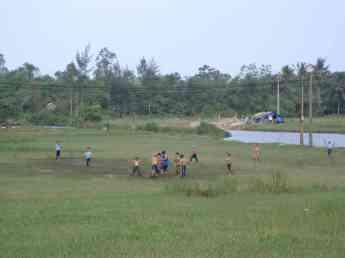 Mud-bath soccer