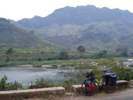 The King enjoying some typical stunning Laos scenery