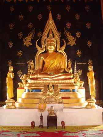 A replica of the revered Golden Buddha