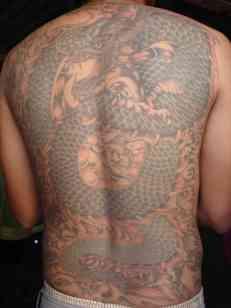 Chinese inspired Thai body art