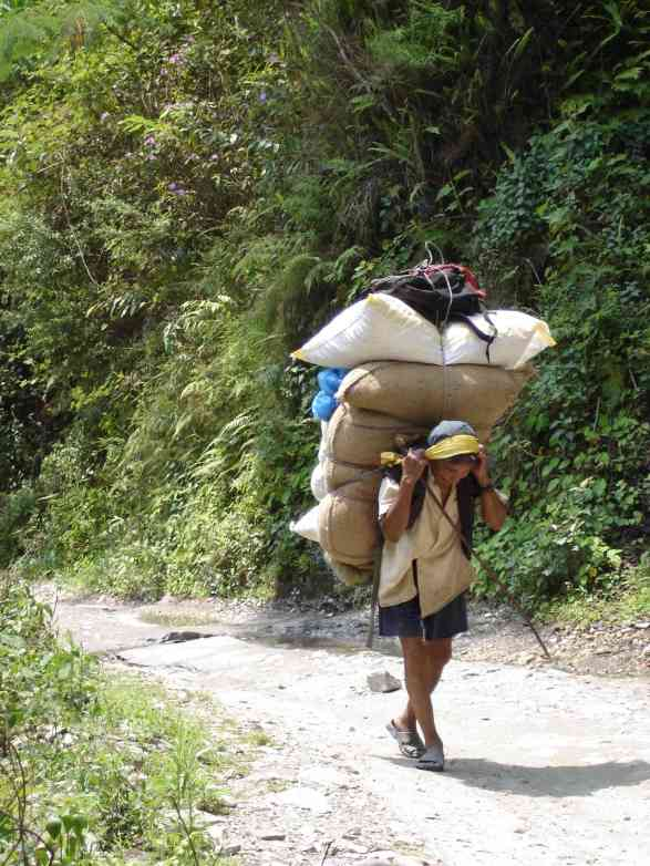 These fully loaded porters would become a common sight, but would never cease to amaze