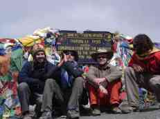 Myself, Paul, Jarda & Gideon were stoked to have made the summit