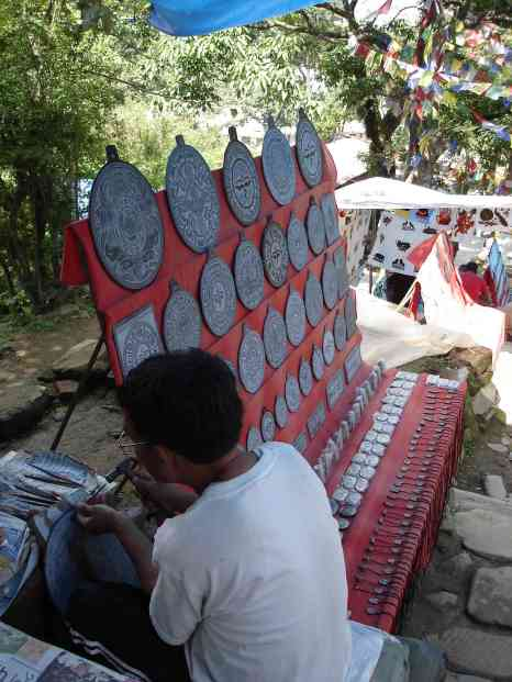 Traditional Tibetan stone carvings
