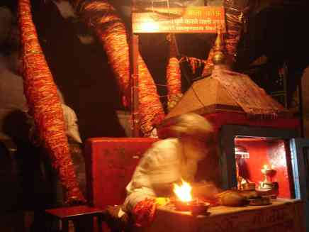 A priest in a temple in Haridwar