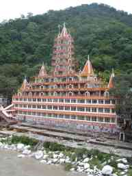 A temple on the Ganges in Rishikesh