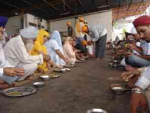 Lunch at the gurdwara