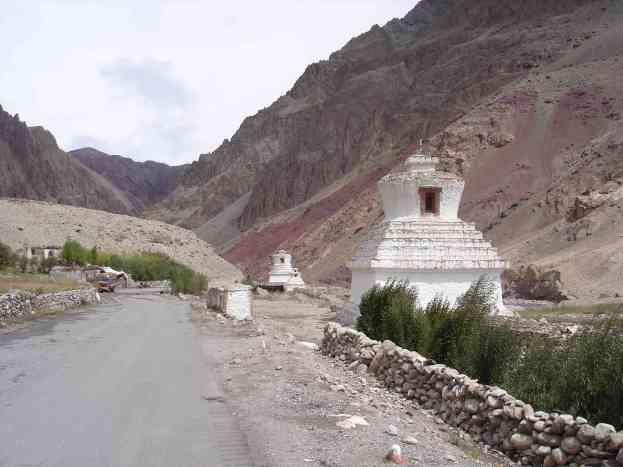 Rolling down through nice Tibetan villages