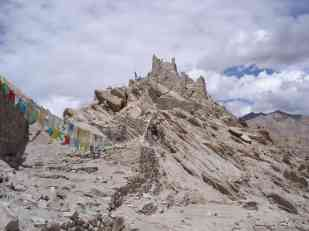 Looking back, not far to go to Leh now