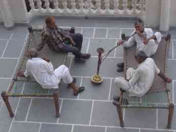 These guys at a dharamsala I stayed in knew how to relax