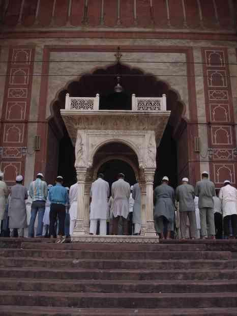Prayer time at Jama Masjid