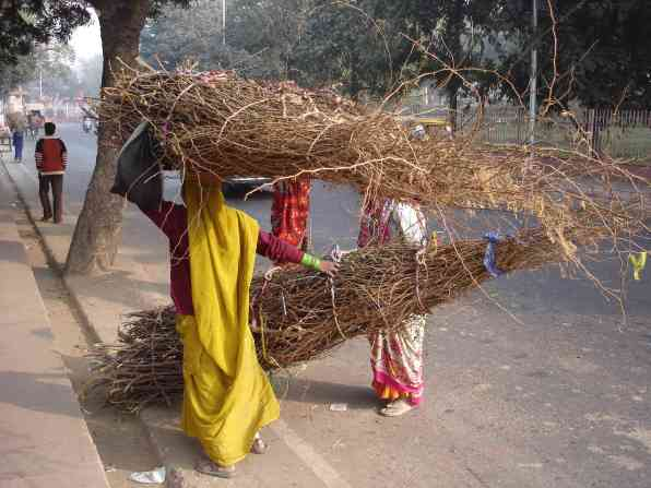 Typical womens work in India