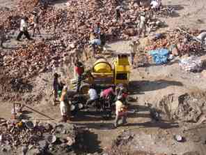 An Indian construction site