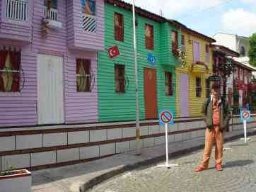 A colourful street in Istanbul