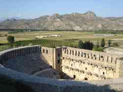 The amazingly well-preserved, 1900-year old Aspendos Theatre