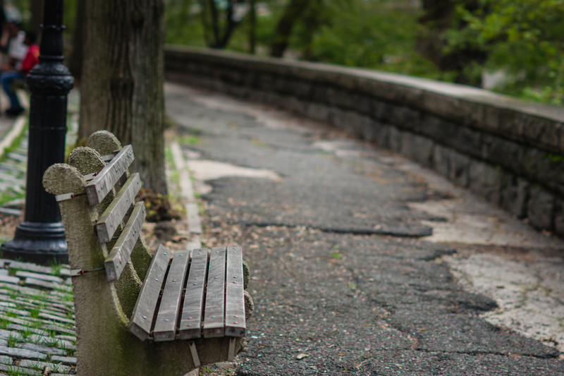 Lonely Bench in NYc